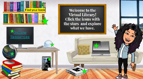 Welcome to the Virtual Library! Click the icons with the stars and explore what we have