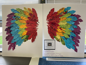 Student Wing art project
