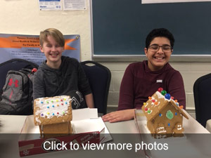 click to view more students with gingerbread houses