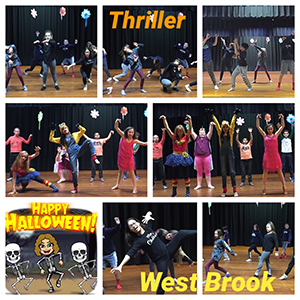 Students dance to Thriller