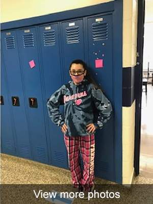 Click to view more photos of pajama day