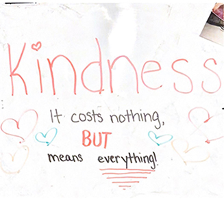 kindness it costs nothing, but means everything