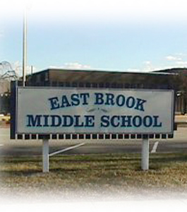 East Brook Middle School sign