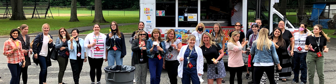 teachers in front of an ice cream truck