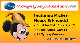 Website for Mickey's Typing Adventure Grades 1–2