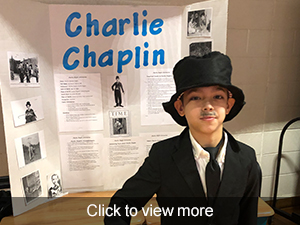 photos from the fourth grade wax museum of history's most inspiring people