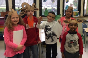 Students dressed up as fairy tale characters