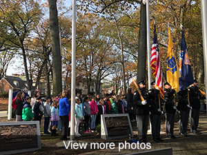 view more photos of Paramus' Veterans Day program