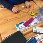 Student uses a ruler and Bendaroos to make and measure angles