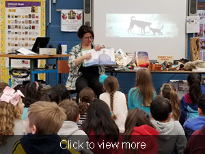 Click to view more. Amy Ludwig VanDerwater reads to students.