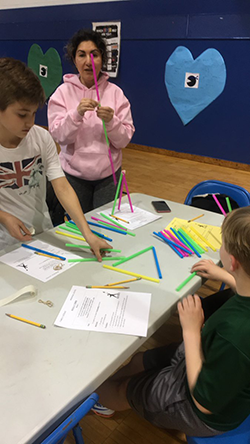 Students design structures together