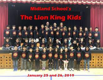 Midland School The Lion King Kids. January 25-26, 2019