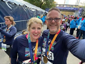 Two marathon participants