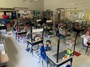 Ridge Ranch kindergarten class on their virtual field trip to the Bronx Zoo
