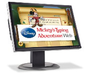 Website for Mickey's Typing Adventure (Grade 2)