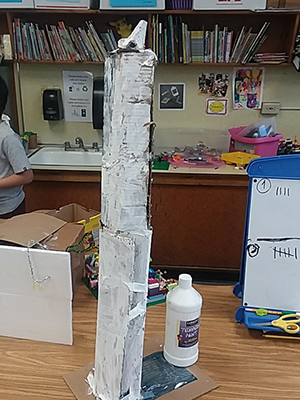 The Washington Monument as designed by Amanda Etlinger's 2nd graders in their MakerSpace