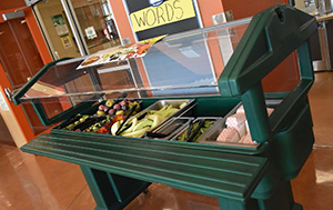 Middle School Health Bar filled with fruits and veggies