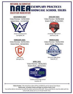 Exemplary Practices Showcase School Tours flyer