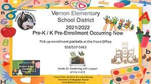 Pre-K and Kindergarten Enrollment flyer