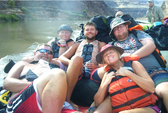 Katie Sneed and her family rafting