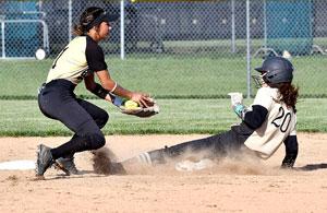 Zoey Barnett slides into second base