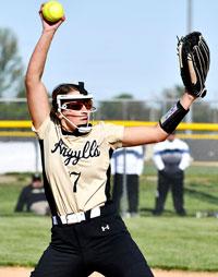 Madison-Grant pitcher Elizabeth throws pitch