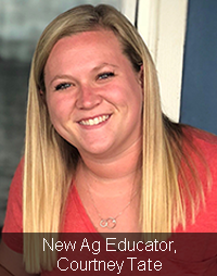 New Ag Educator Courtney Tate