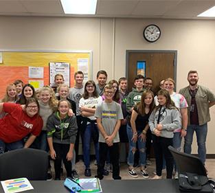 Technology class at Madison-Grant Jr./Sr. High