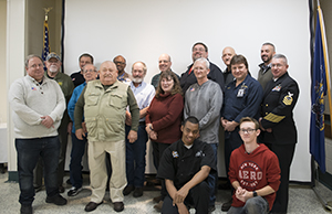 Greater Johnstown Career & Technology Center instructors, staff and students that are veterans and two high school students that have committed to military service