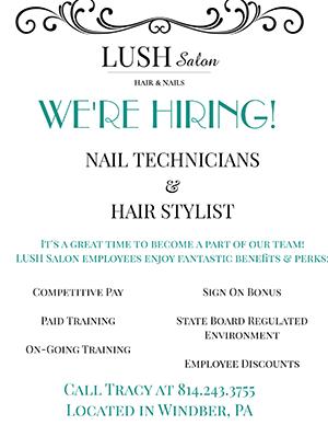 Lush Salon flyer