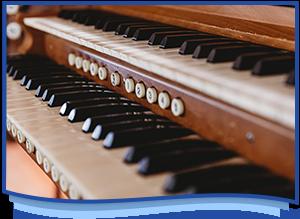 Lorna Lee Rocket Curtis playing organ