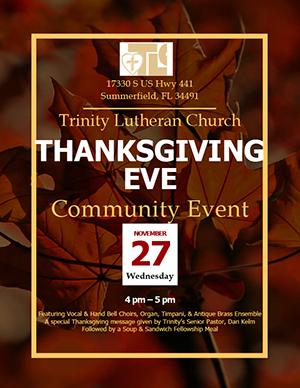 Thanksgiving Even Community Event - November 27