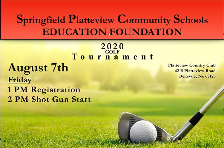 Springfield Plattview Community Schools Education foundation 2020 Golf Tournament August 7 Registration at 1PM