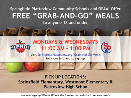Free Grab-and-Go Meals flyer
