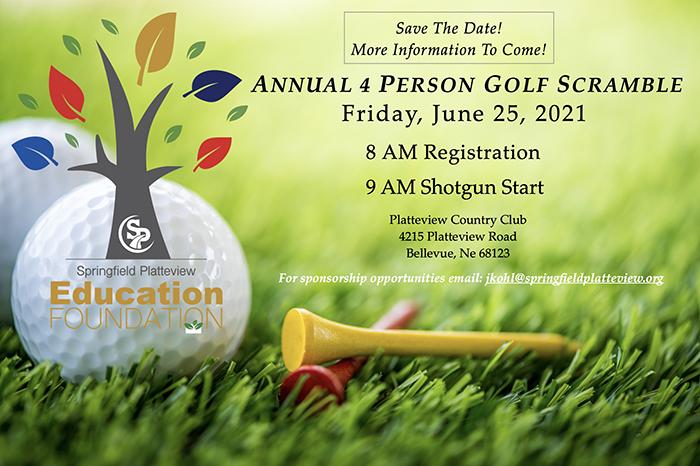 Annual Four Person Golf Scramble Flyer