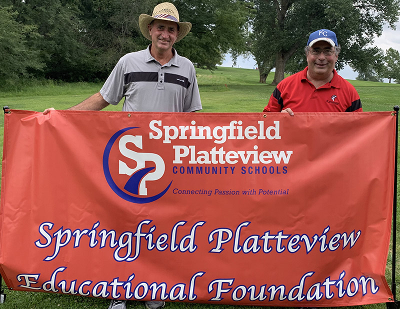 Board of Directors: Tim Lorenz and Kyle Fisher at the 2020 Foundation Golf Tournament