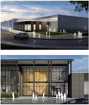 Renderings of what Springfield Elementary School will look like after completion in 2022