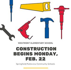 Construction begins Monday, February 22, 2021