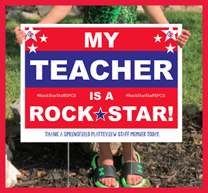 My Teacher is a Rock Star yard sign