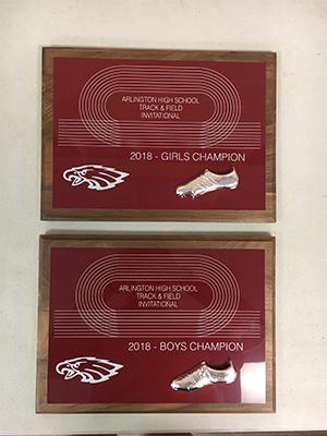 Track and Field Arlington High School Invitational award 2018