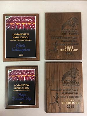 Track and Field Logan View High School invitational award 2018
