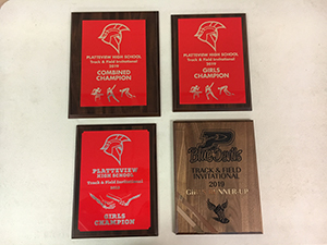 Track and Field Platteview High School invitational award 2019