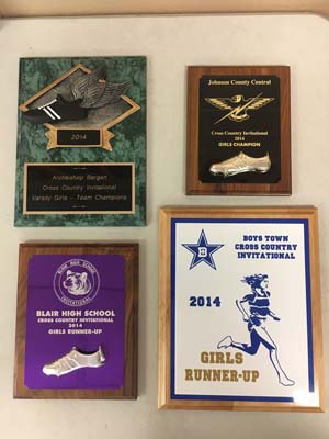 4 cross country award plaques - 2014