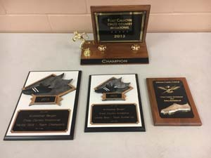 4 cross country award plaques from 2013