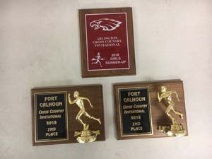 3 cross country plaques from 2018