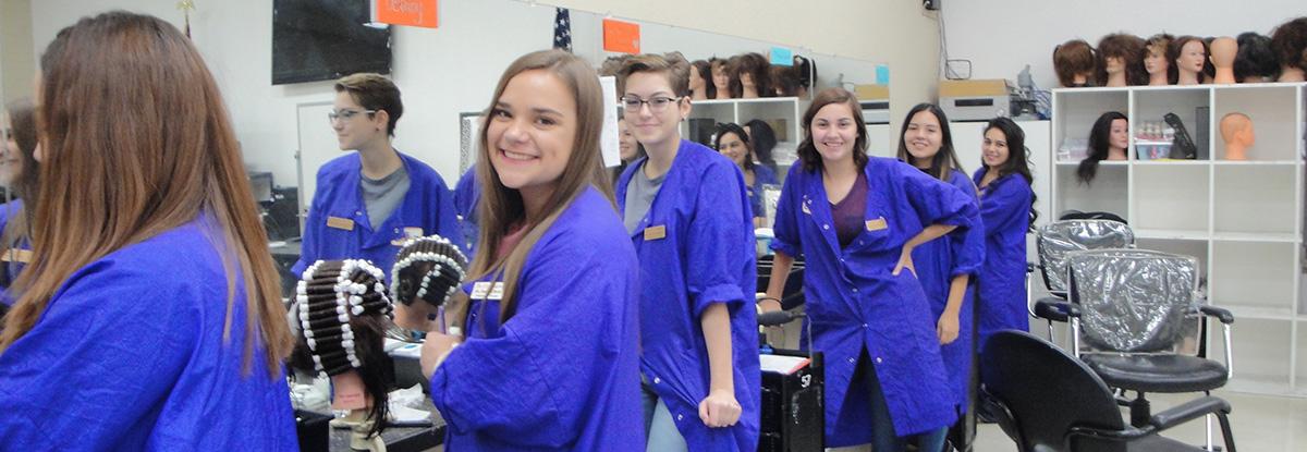 Hair Stylist students