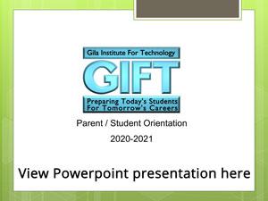GIFT Powerpoint presentation 2020-2021