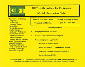 Meet the Instructor event flyer