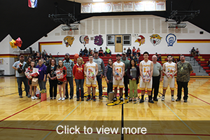 Photos of Basketball and Cheerleader seniors