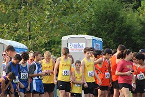 Runners waiting at starting line